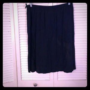 🌴SALE🌴VTG NWT black pleated pinup circle skirt